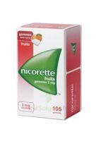 Nicorette 2 Mg Gomme à Mâcher Médicamenteuse Sans Sucre Fruits Plq/105 à NANTERRE