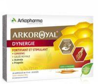 Arkoroyal Dynergie Ginseng Gelée Royale Propolis Solution Buvable 20 Ampoules/10ml à NANTERRE