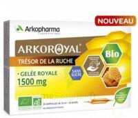 Arkoroyal Gelée Royale Bio Sans Sucre 1500mg Solution Buvable 20 Ampoules/10ml à NANTERRE