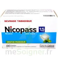 Nicopass 1,5 Mg Pastille Sans Sucre Menthe Fraîcheur Plq/96 à NANTERRE