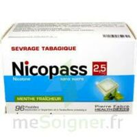 Nicopass 2,5 Mg Pastille Menthe Fraîcheur Sans Sucre Plq/96 à NANTERRE