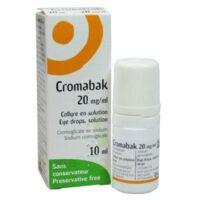 Cromabak 20 Mg/ml, Collyre En Solution à NANTERRE