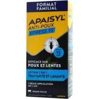 Apaisyl Anti-poux Xpress 15' Lotion Antipoux Et Lente 100ml+peigne à NANTERRE